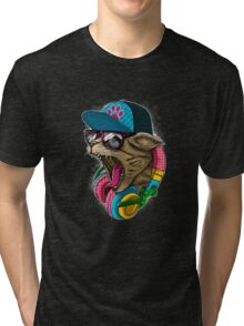 Cool And wild Cat Tri-blend T-Shirt