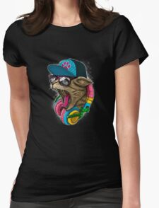 Cool And wild Cat Womens Fitted T-Shirt