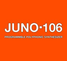 Juno 106 Synthesizer decoration  Clothing & Stickers by goodmusic