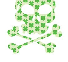 Irish Pirate Skull And Crossbones by kwg2200