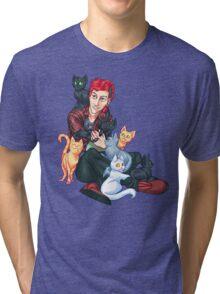 Josh Dun + Cats Tri-blend T-Shirt