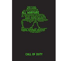 Call of Duty Typography Photographic Print