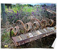 The Beauty of Organic Farm Equipment Poster