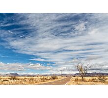 Cloudplay over a Desert Grassland Photographic Print