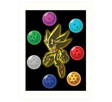 Super Saiyan Sonic Art Print