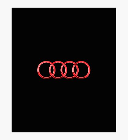 Audi logo red Photographic Print