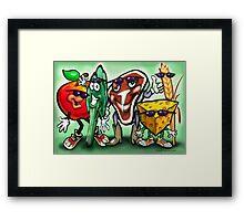 Food Groups Framed Print