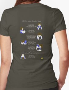 BJJ 101: Basic Elevator Sweep Womens Fitted T-Shirt