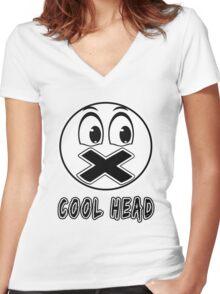 Cool Head Freak Women's Fitted V-Neck T-Shirt