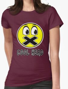 Cool Head Yellow Freak Womens Fitted T-Shirt
