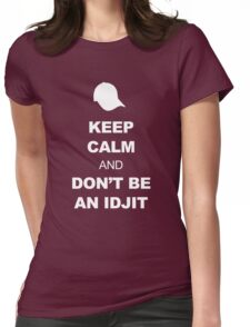 Supernatural Keep Calm Parody (Bobby) Womens Fitted T-Shirt