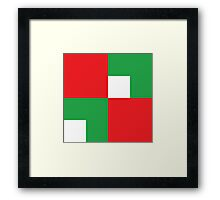 Christmas colors red green white Framed Print