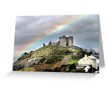 Rainbow over the Castle . Greeting Card