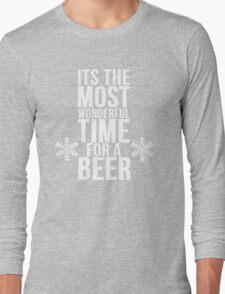 Its The Most Wonderful Time For A Beer Long Sleeve T-Shirt
