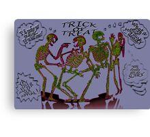 Skeleton Pranks Canvas Print