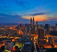 Sunrise in Kuala Lumpur by Nur Ismail Mohammed