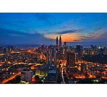 Sunrise in Kuala Lumpur Photographic Print
