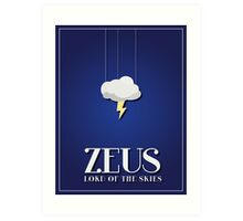 Minimalist Zeus Poster Art Print