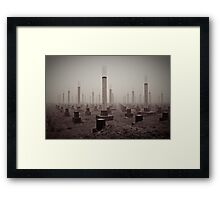 cemetery of the 21st century Framed Print