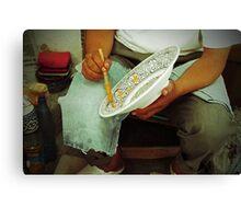 Ceramic worker Canvas Print