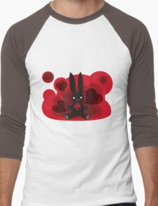 The stuffed toy of the rabbit Men's Baseball ¾ T-Shirt