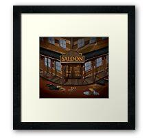 Wild West Saloon bar  Framed Print