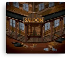 Wild West Saloon bar  Canvas Print