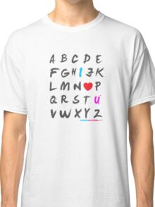 Alphabet Love  Classic T-Shirt
