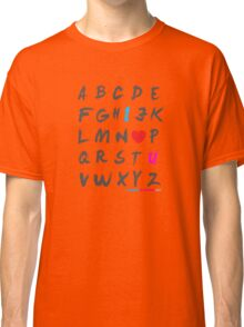 Alphabet Love  Classic T-Shirt