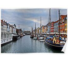 Copenhagen Nyhavn, Dusk over the Harbour Poster