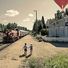 A moment at train station by Henry Moilanen