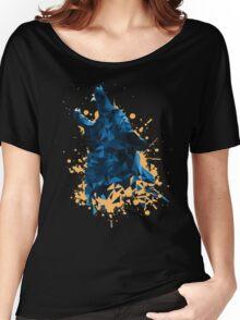 Blue Geometric Barking Shepherd Women's Relaxed Fit T-Shirt