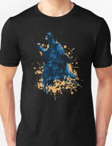 Blue Geometric Barking Shepherd Unisex T-Shirt