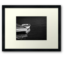 Dingy at the dock Framed Print