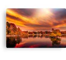 Sunset over Jamaica Pond Canvas Print