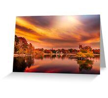 Sunset over Jamaica Pond Greeting Card