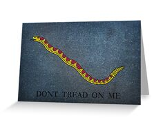 Navy Jack Snake - Dont Tread on Me Greeting Card