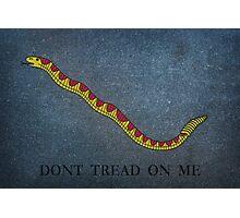 Navy Jack Snake - Dont Tread on Me Photographic Print