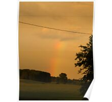 Rainbow Over The Field                      Pentax X-5 Series 16 MP Poster