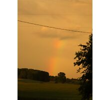 Rainbow Over The Field                      Pentax X-5 Series 16 MP Photographic Print
