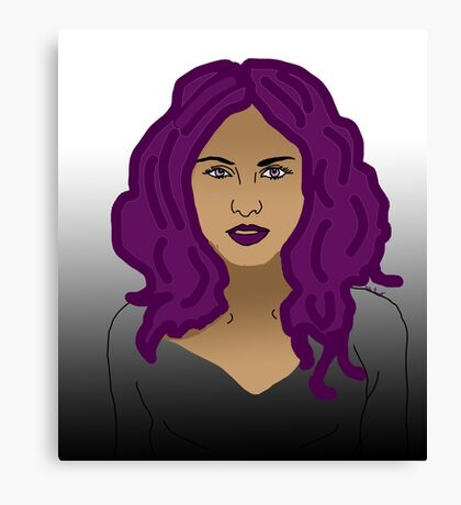 Girl with purple hair  Canvas Print
