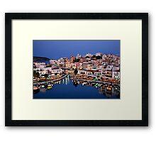 Blue hour in Agios Nikolaos Framed Print