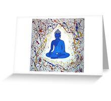 Unveiling Reality - Blue Buddha Greeting Card