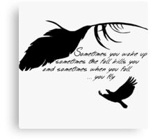 Sandman - When you fall, you fly Canvas Print