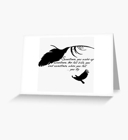 Sandman - When you fall, you fly Greeting Card