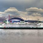 Seattle Ferry Boat at Colman Dock by Sue Morgan