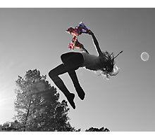 JumpOrangeSplash Photographic Print