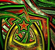 Christmas Star Rings  by wolfepaw