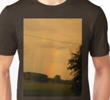 Rainbow Over The Field                      Pentax X-5 Series 16 MP Unisex T-Shirt