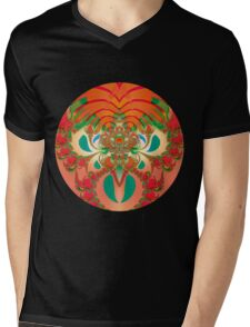 Red Owl Mens V-Neck T-Shirt
